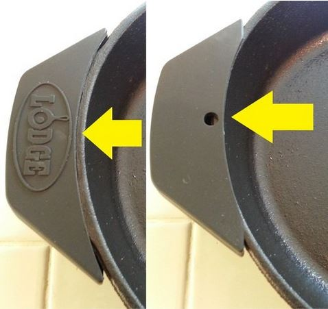 Cast iron skillet assist handle cover