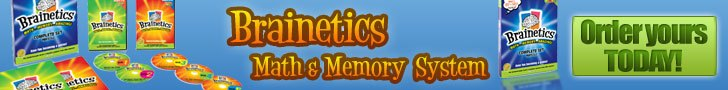 Brainetics math and memory system banner