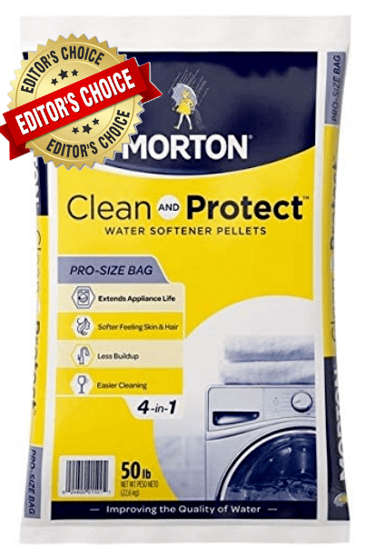 1. MORTON SALT Clean & Protect 50 lbs.